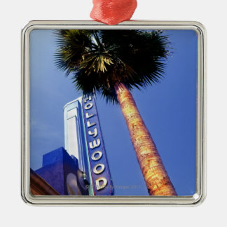 Hollywood Boulevard, Los Angeles Silver-Colored Square Decoration