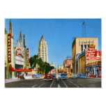 Hollywood Boulevard, Los Angeles Vintage Poster