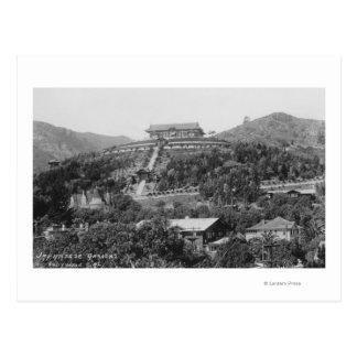 Hollywood, CA Japanese Gardens View Photograph Postcard