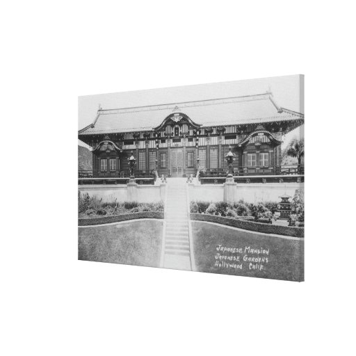 Hollywood, CA Japanese Mansion in Gardens Canvas Prints