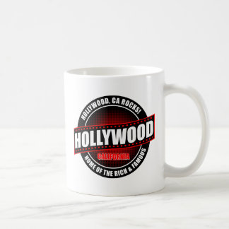 Hollywood, Ca. Rocks! Home Of The Rich & Famous Basic White Mug