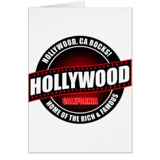 Hollywood, Ca. Rocks! Home Of The Rich & Famous Greeting Card