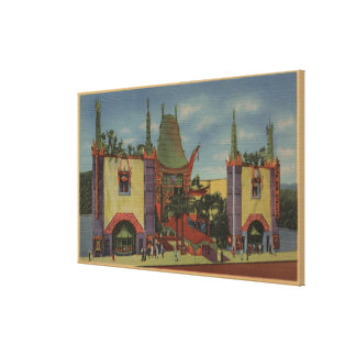 Hollywood, CAGrauman's Chinese Theatre View Canvas Print