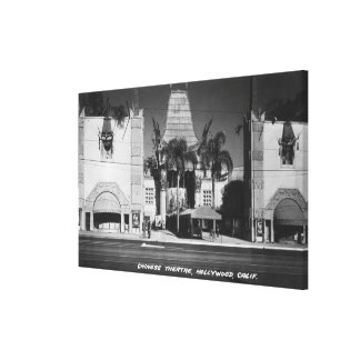 Hollywood, California Chinese Theatre View Canvas Print