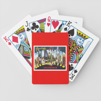 Hollywood California USA Bicycle Playing Cards