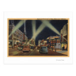 Hollywood, CANight View of Hollywood Blvd. Postcards