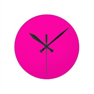 Hollywood Cerise Round Clock