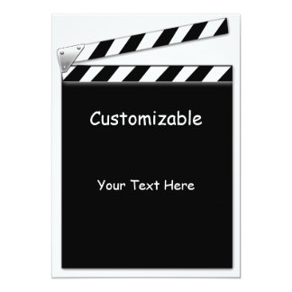 Hollywood Clapper Board Custom, Info Template Announcement