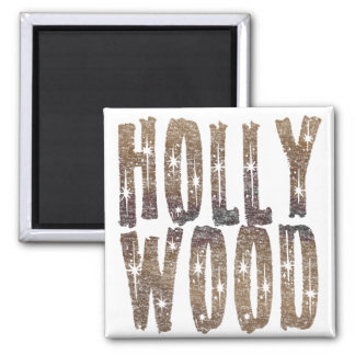 Hollywood Coffee and Stars Square Magnet