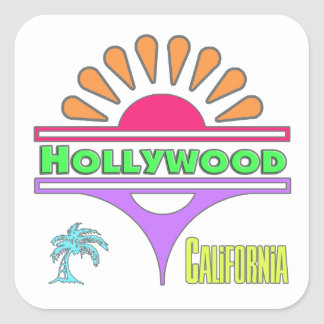 """Hollywood Colorful 1"" Sticker"