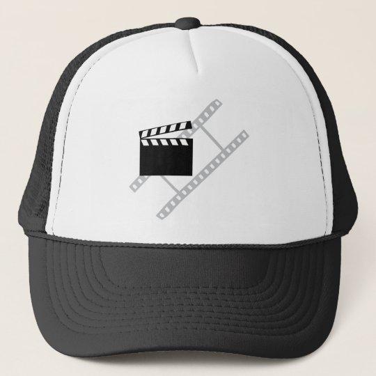 hollywood film clapper trucker hat