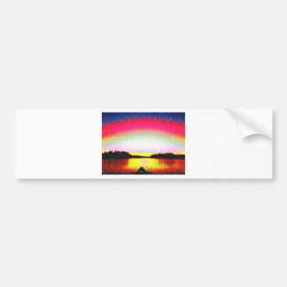 Hollywood FL Romantic Sunset. Bumper Sticker