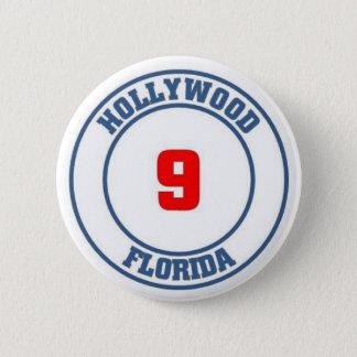 Hollywood florida 6 cm round badge