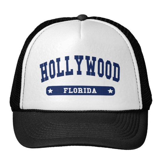 Hollywood Florida College Style tee shirts Cap