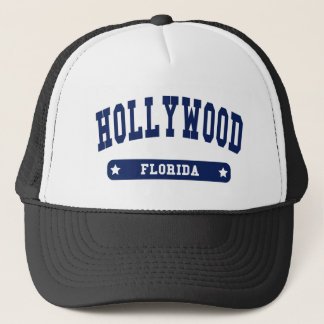 Hollywood Florida College Style tee shirts Trucker Hat