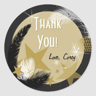 Hollywood Glamour Gift Label Round Sticker