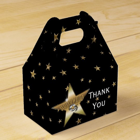 HOLLYWOOD GOLD STAR Birthday Party Favour Boxes