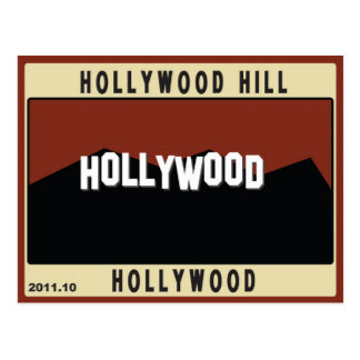 Hollywood Hills Postcard