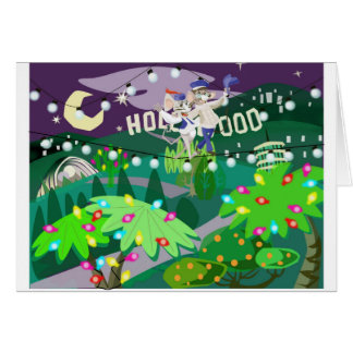 Hollywood Holidays Stationery Note Card