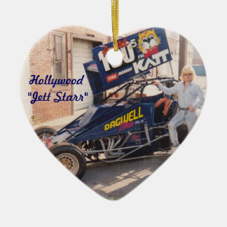Hollywood Jett Starr with his Dirt Car Christmas Ornament