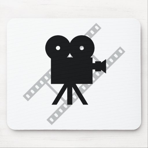 hollywood movie cine camera film mouse pad