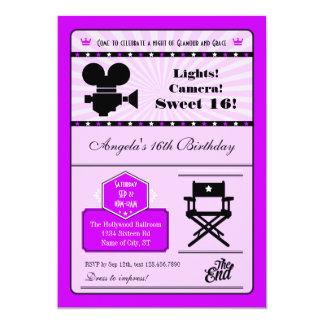 Hollywood Movie Sweet 16 Invitation