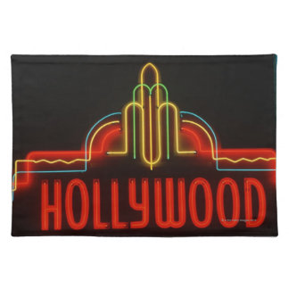 Hollywood neon sign, Los Angeles, California Placemat