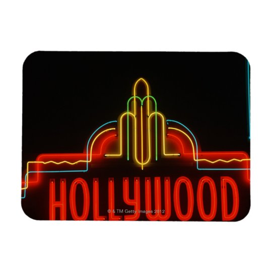 Hollywood neon sign, Los Angeles, California Rectangular Photo Magnet