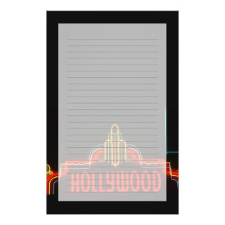 Hollywood neon sign, Los Angeles, California Stationery Design