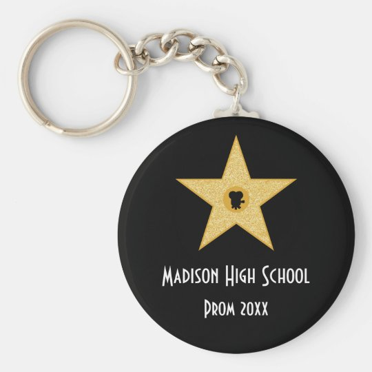 Hollywood Nights Gold Star Prom Formal Favour Key