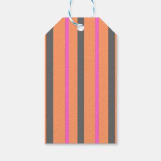 Hollywood Orange Stripes Gift Tags