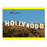 hollywood postcard yellow