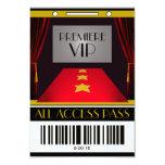 Hollywood Premiere VIP Birthday Party 9 Cm X 13 Cm Invitation Card