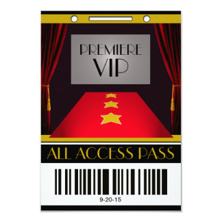 Hollywood Premiere VIP Birthday Party Card