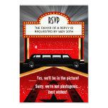 Hollywood Red Carpet Invitation RSVP Template