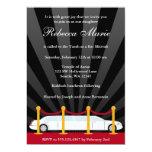 Hollywood Red Carpet Limo Bat Mitzvah Invitation