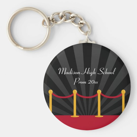 Hollywood Red Carpet Prom Formal Favour Key Ring