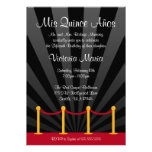 Hollywood Red Carpet Quinceanera Party Announcements