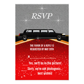 Hollywood Red Carpet RSVP Template Custom Invitations