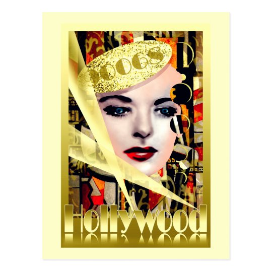 Hollywood Retro Vintage Style Postcard