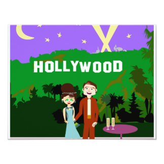 Hollywood Romance Custom Announcements