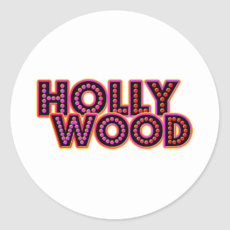Hollywood Round Sticker