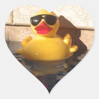 Hollywood Rubber Duckie Heart Sticker