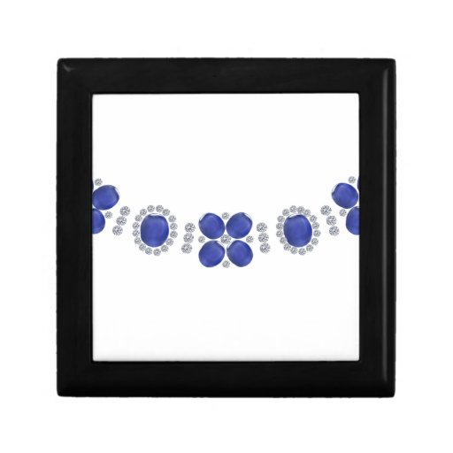 Hollywood Sapphire Glamour Necklace Gift Boxes