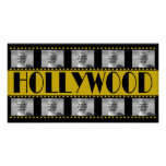 Hollywood Sign Movie Reel Photo Collage