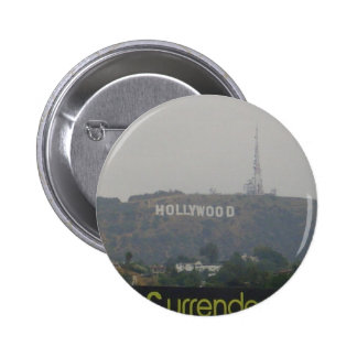 Hollywood Sign on the Hills 6 Cm Round Badge