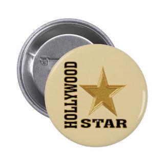 Hollywood Star 6 Cm Round Badge