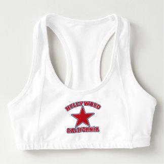 Hollywood Star custom text sports bra