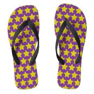 Hollywood star flipflops (women) (purple & yellow) flip flops