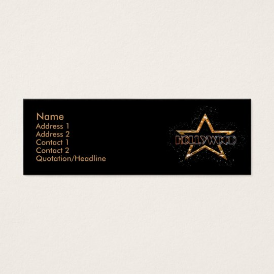 Hollywood Star Mini Business Card